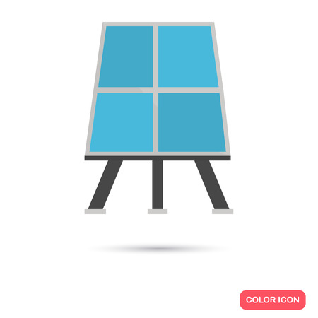 absorb: Solar battery color icon. Flat design. Environmental theme for web and mobile Illustration