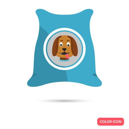 Dog food color icon. Flat design. Pet shop theme Illustration