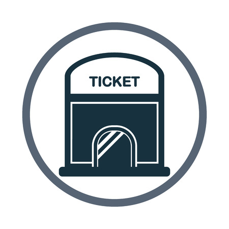 ticket office: Cinema ticket office icon. Simple design for web and mobile
