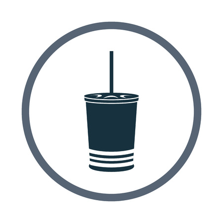 record shop: Cinema cafe glass of drink icon. Simple design for web and mobile Illustration