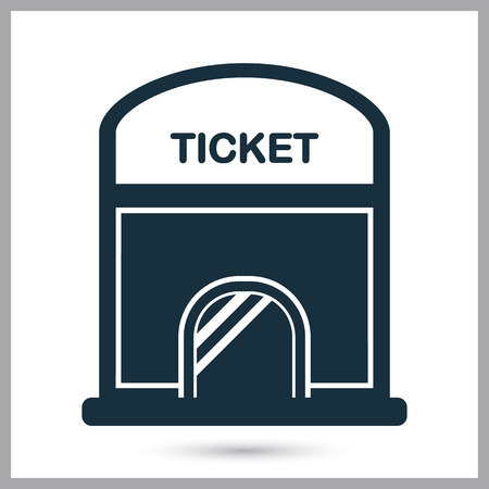 record office: Cinema ticket office icon. Simple design for web and mobile