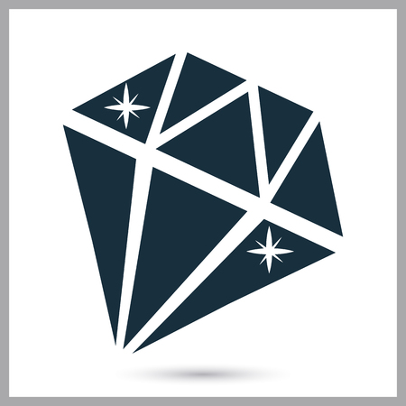 gemstone: Gemstone icon. Simple design for web and mobile Illustration