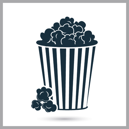 Popcorn icon. Simple design for web and mobile Illustration