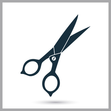 seamstress: Sewing scissors icon. Simple design for web and mobile