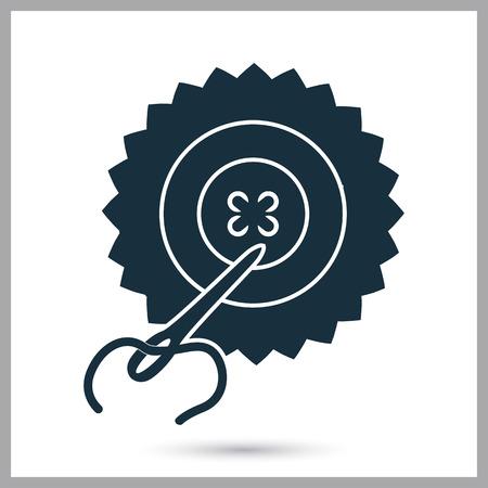 sewn: Sewn button icon. Simple design for web and mobile