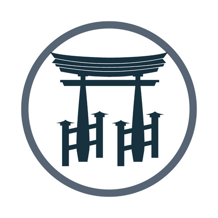 torii: Japan Torii icon. Simple design for web and mobile