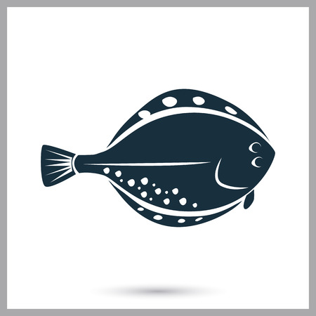 flounder: Flounder icon. Simple design for web and mobile Illustration