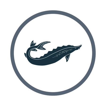 Sturgeon icona. Design semplice per il web e mobile