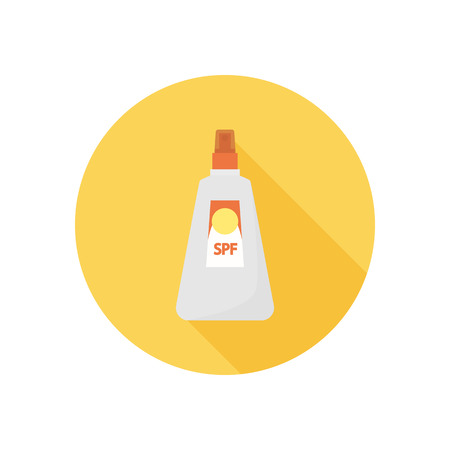 Sun protection cream color icon. Flat design for web and mobile