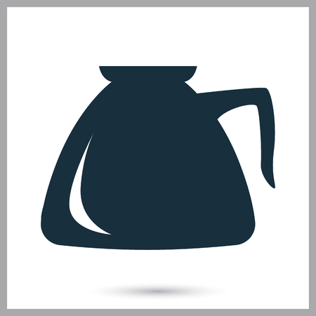 Coffee kettle icon. Simple design for web and mobile