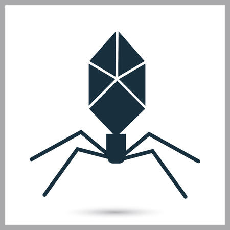 Bacteriofage icon. Simple design for web and mobile Illustration