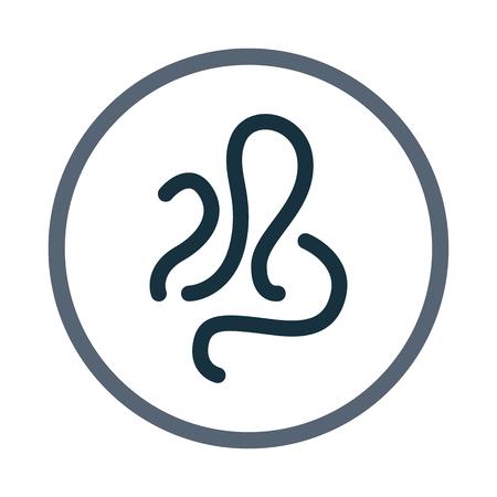 signos vitales: icono de germen. Diseño simple para web y móviles