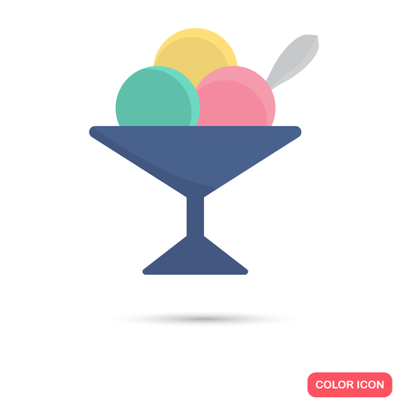Ice cream color icon. Flat design for web and mobile