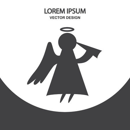 Christmas angel icon. Simple design for web and mobile Illustration