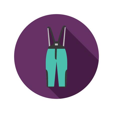 overol: Invierno guardapolvos icono de color. Diseño plano para web y móviles