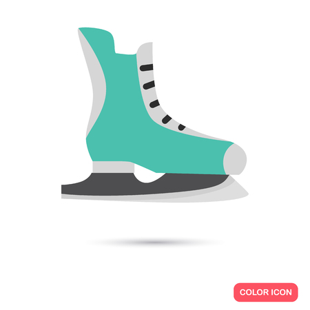 Racing skates color icon. Flat design for web and mobile