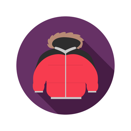 winter jacket: Winter jacket color icon. Flat design for web and mobile