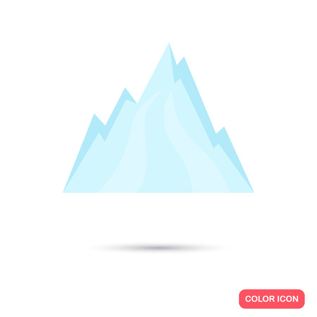 Winter mountains color icon. Flat design for web and mobile Illustration