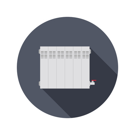 sectional: Heating sectional battery color icon. Flat design for web and mobile