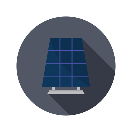 absorb: Solar battery color icon. Flat design for web and mobile