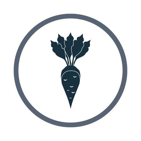 Sugar beet agriculture crop icon. Simple design for web and mobile Illusztráció