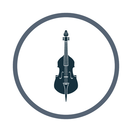 contrabass: Contrabass music instrument icon. Simple design for web and mobile