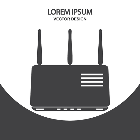 isolatd: router icon. Simple design for web and mobile