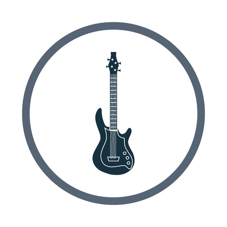 Electric guitar music instrument icon. Simple design for web and mobile Illustration