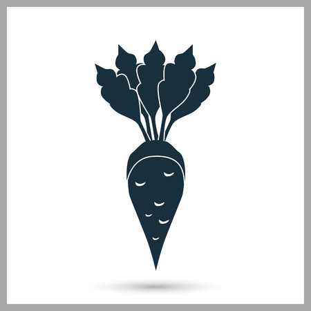 Sugar beet agriculture crop icon. Simple design for web and mobile
