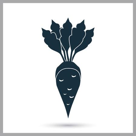 Zuckerrüben Landwirtschaft Ernte-Symbol. Einfaches Design für Web und Mobile