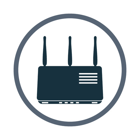 isolatd: Wi-fi router icon. Simple design for web and mobile Illustration