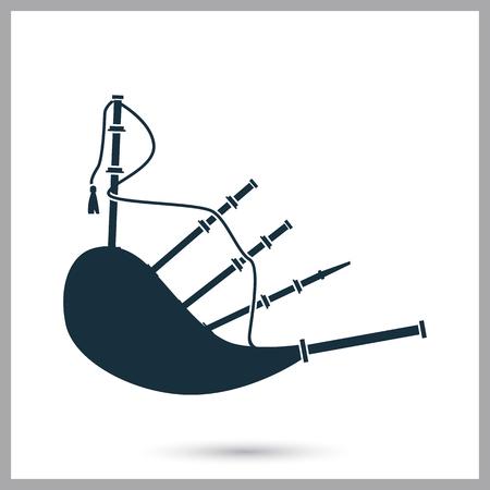 gaita: Gaitas icono de instrumento musical. Diseño simple para web y móviles Vectores
