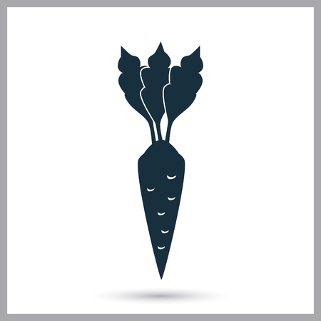 Carrot agriculture crop icon. Simple design for web and mobile