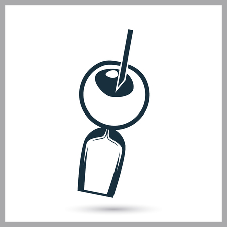 demografia: icono de la inseminación artificial. Diseño simple para web y móviles