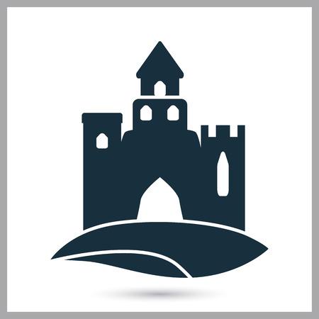 sand castle: Sand castle icon. Simple design for web and mobile Illustration