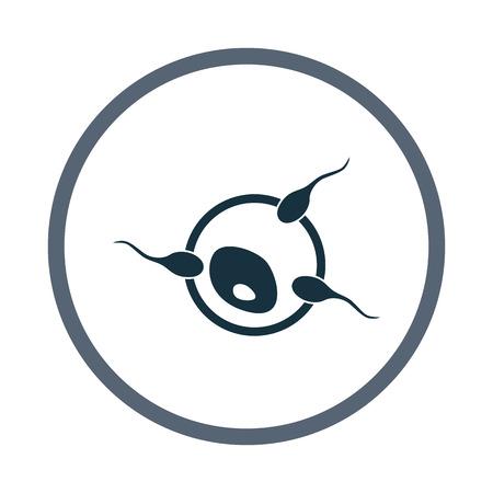 fertilization: Process of egg fertilization icon. Simple design for web and mobile