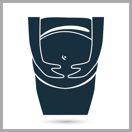 insemination: Pregnant woman icon. Simple design for web and mobile