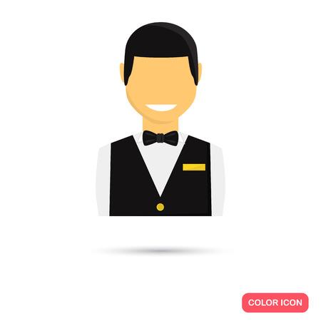casino dealer: Casino dealer color flat icons Illustration
