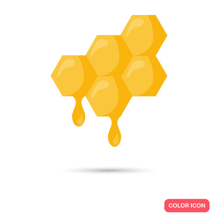 Honey comb color flat icon for web and mobile design