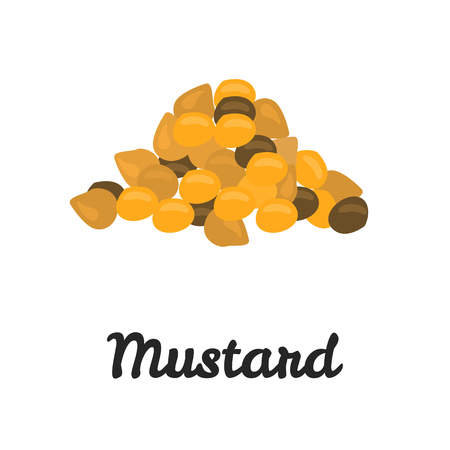 Mustard seeds color flat icon for web and mobile design