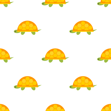 Pattern with turtle color flat icon Illustration