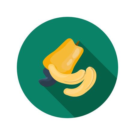 cashews: Cashews color icons in cartoon design Illustration