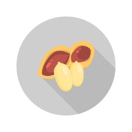 cashews: Peanut color icons in cartoon design