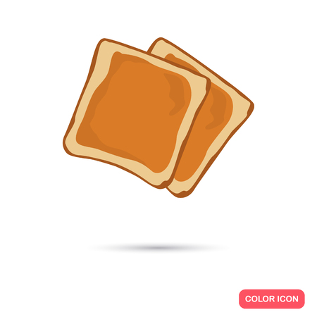 ruddy: Bread toasts color icon. Cartoon style for web and mobile design Illustration