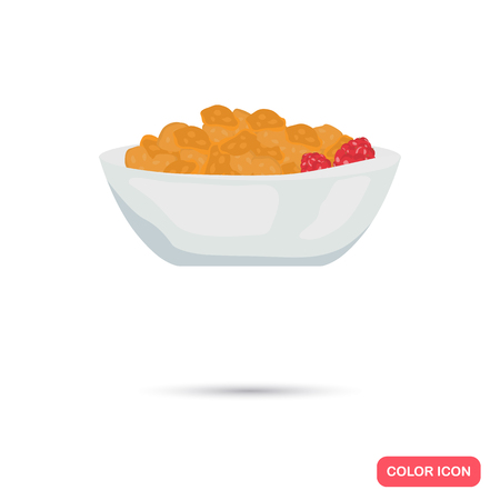 Cornflakes color icon. Cartoon style for web and mobile design