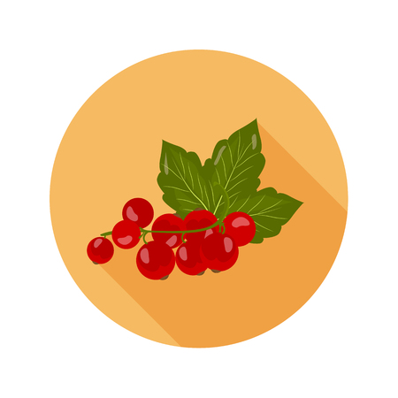 Red currant color icon. Cartoon style for web and mobile design