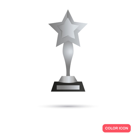 Silver trophy cup icon for web and mobile design