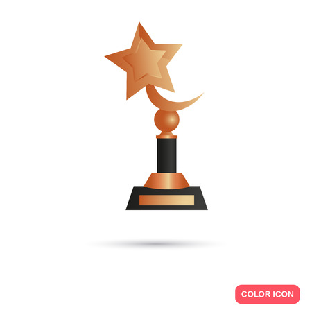 Bronze trophy cup icon for web and mobile design