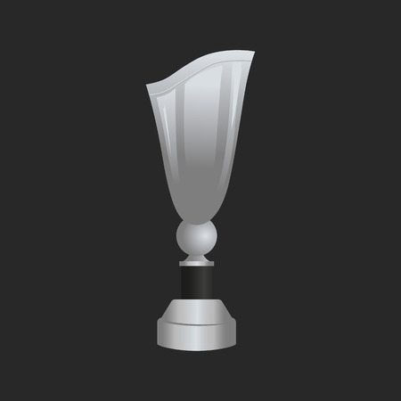nomination: Silver trophy cup icon for web and mobile design