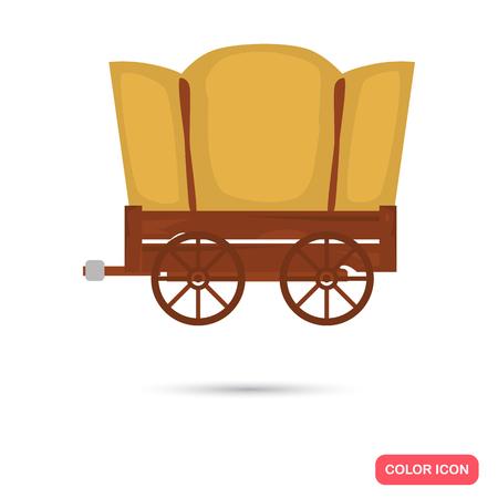 Overdekt wagenkleur flat icon voor web- en mobiel ontwerp